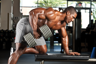 Back exercise one arm dumbbell row
